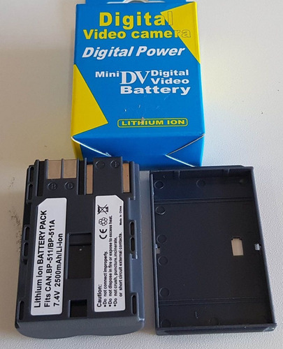 bateria 30d 40d 50d 5d g3 g5 canon bp511a bp511 2500mah e