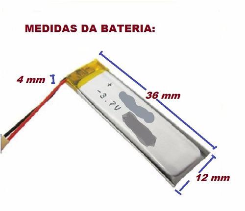 bateria 3.7v 180 mah para óculos espião alta capacidade