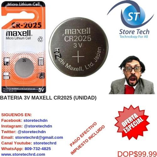 bateria 3v maxell cr2025 (unidad)