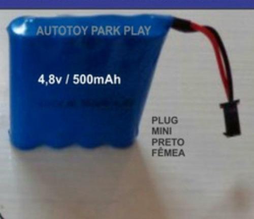 bateria 4.8v ni-cd aa500mah  mini plugue preto