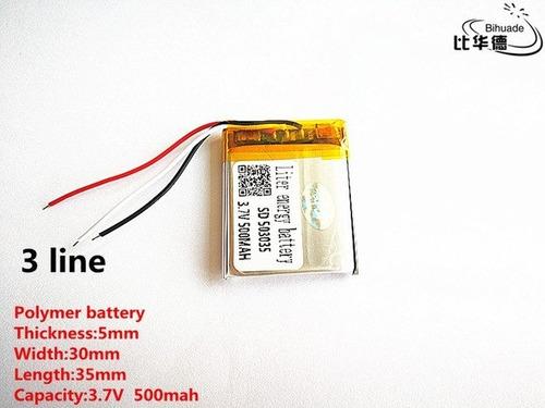 bateria 500 mah  3 fios gps,rastreador,mp3,mp4,baba,etc