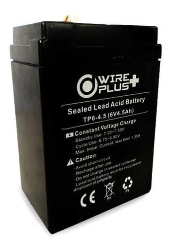 bateria 6v 4.5a, alarma, lampara de emergencia, juguete