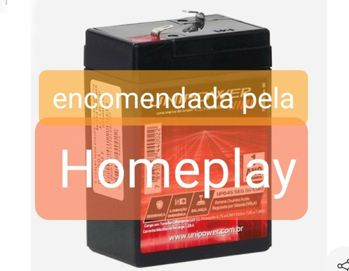 bateria 6v/4.5ah original homeplay