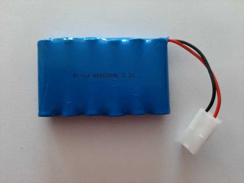 bateria 7.2v 500mah com conector tamiya branco