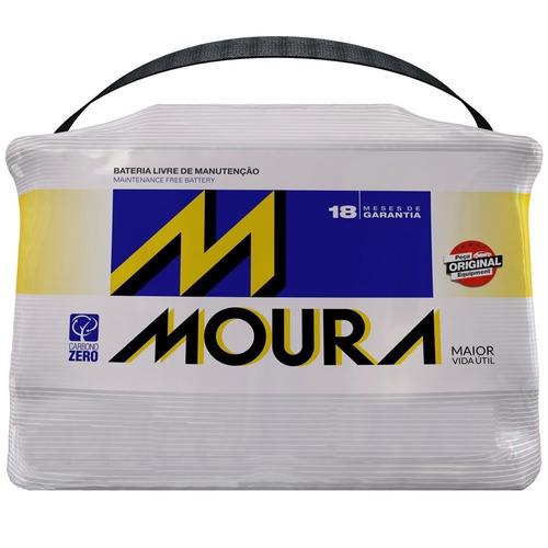 bateria 75ah moura 18 meses de garantia frete grátis