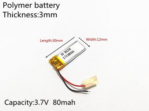 bateria 80 mah 3,7v óculos nvidia