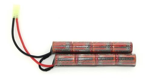 bateria 9,6v nimh 1600mah airsoft conector tamiya mini
