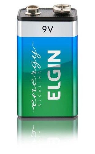 bateria 9v alcalina blister com 1 elgin