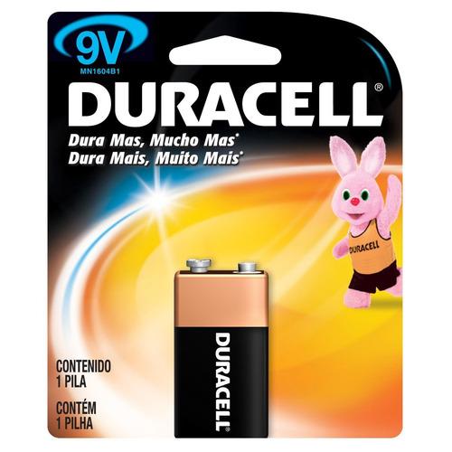 bateria 9v duracell (6 unidades)