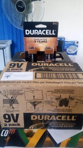 bateria 9v duracell c/2 unid alcalina original pcte c/4 cart