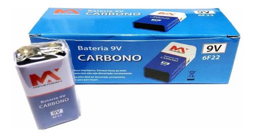 bateria 9v hw goal  6f22 caixa com 10 unid  atacado revenda