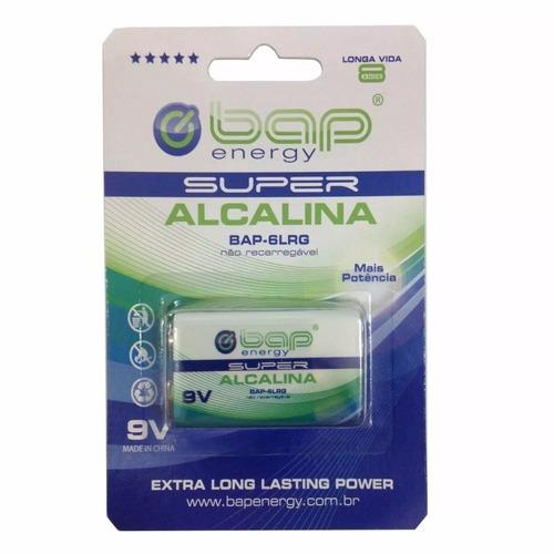 bateria 9v super alcalina 6lrg bap energy