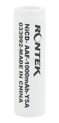 bateria aa 1000mah 1,2v ni-cd rontek recarregável