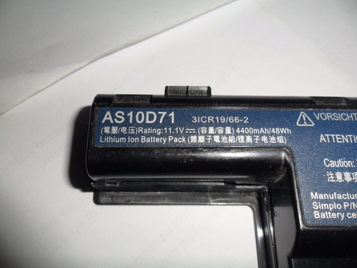 bateria acer 4741 funcionando