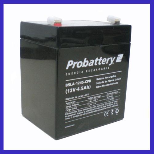 bateria acumulador gel 12v 4,5a 12v 4,5 amper plomo-calcio