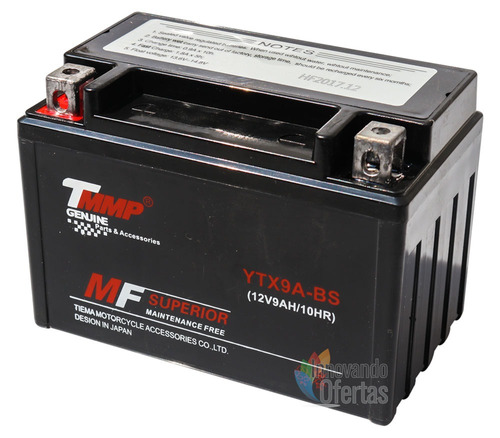 bateria acumulador pila de gel ytx9 motos italika