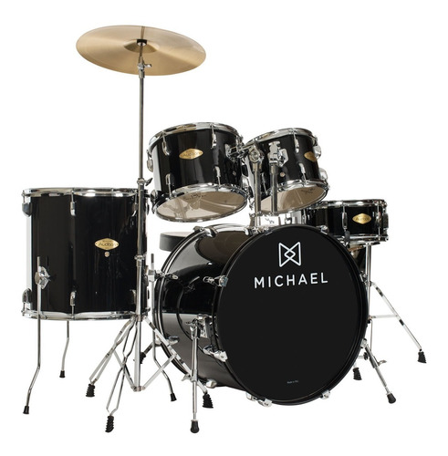 bateria acústica bumbo 18 pol - audition dm 826 bk michael