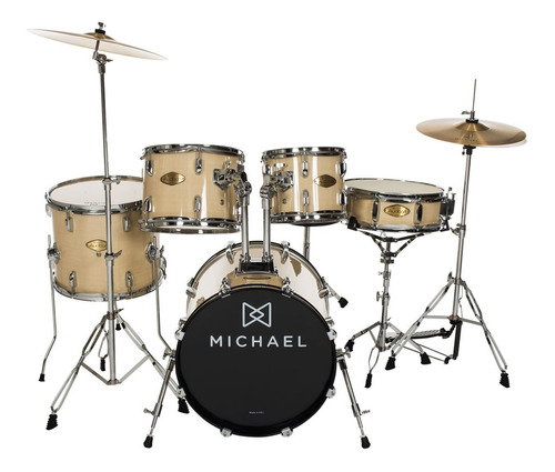 bateria acústica bumbo 18 pol - audition dm 826 na michael