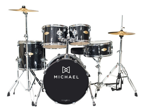 bateria acústica bumbo 18 pol - classicpro dm 841bks michael