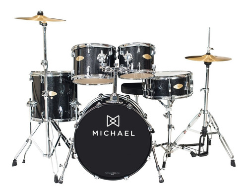bateria acústica bumbo 20 pol classic pro dm 842 bks michael