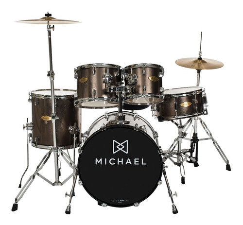 bateria acústica bumbo 20 pol classic pro dm 842 chr michael