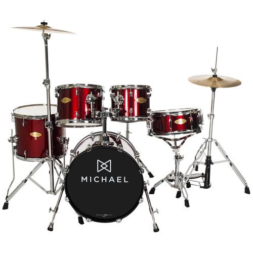 bateria acústica bumbo 20 pol classic pro dm 842 wr michael