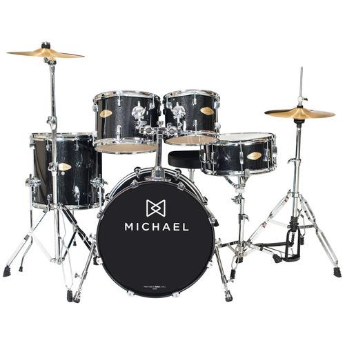 bateria acústica bumbo 22 pol classic pro dm 843 bks michael