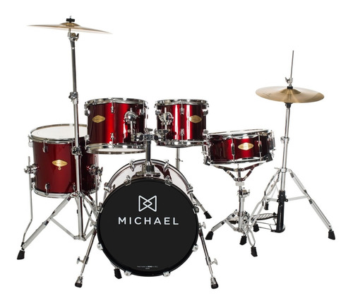 bateria acústica bumbo 22 pol classic pro dm 843 wr michael