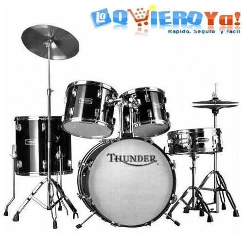 batería acústica completa thunder fierros platillos jbp0901