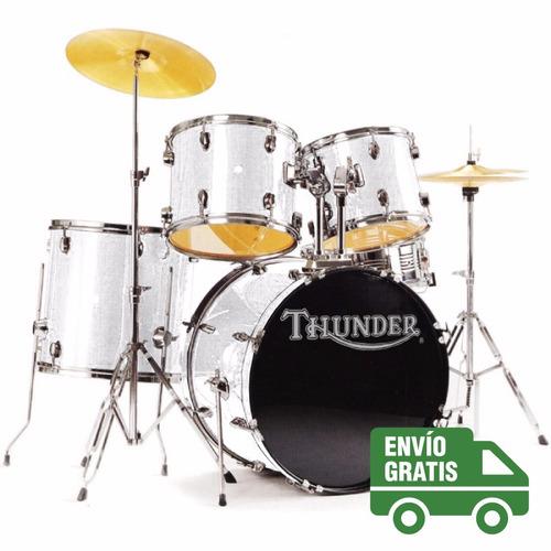batería acústica completa thunder jbp0901 fierros platillos