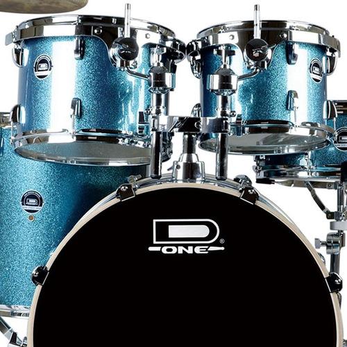 bateria acústica d one street ds22 azul pedal banco pedest