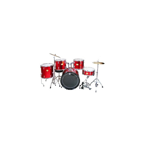 bateria acustica musical profesional 6 piezas + accesorios