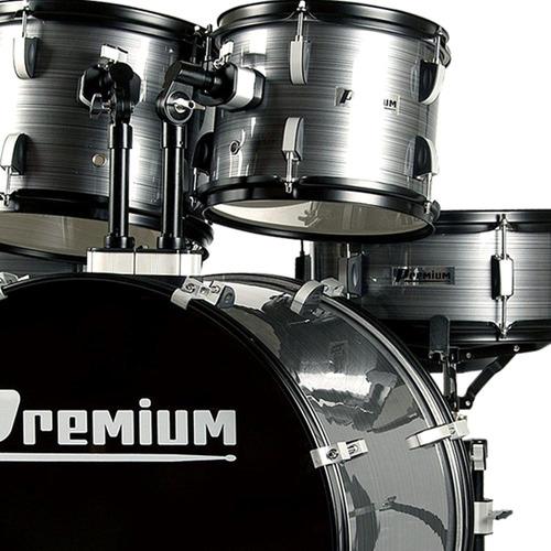 bateria acústica premium completa dx722 chumbo