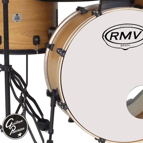 bateria acustica rmv road up 5 cuerpos black + p zildjian z4