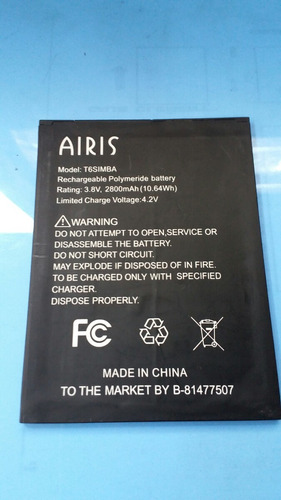 bateria airis original para el mod.tm600