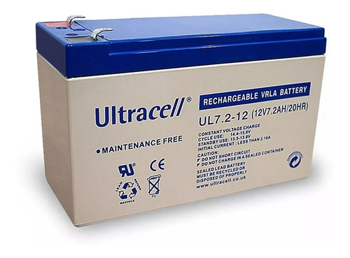 bateria alarma ups leds gel 12v 7ah 12 7a ultracell original