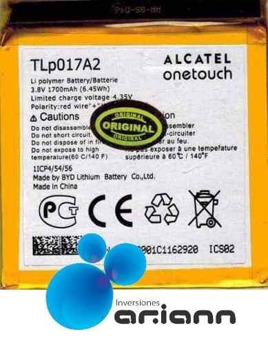 bateria alcatel idol mini ot 6012 6012a 6015 6016 s530t nuev