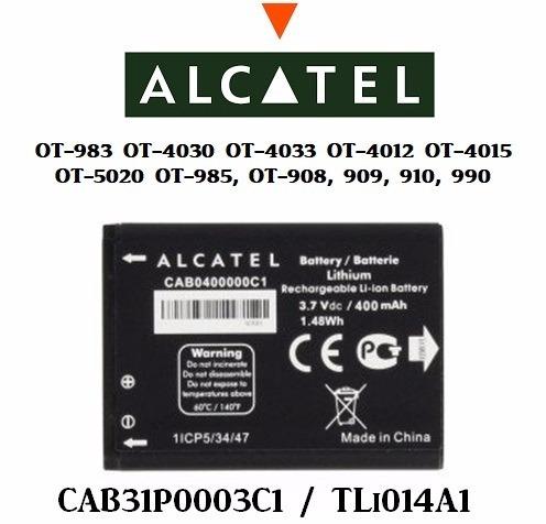 bateria alcatel tli014a1  ot-4030,4033, 983, 5020 4012, 4015