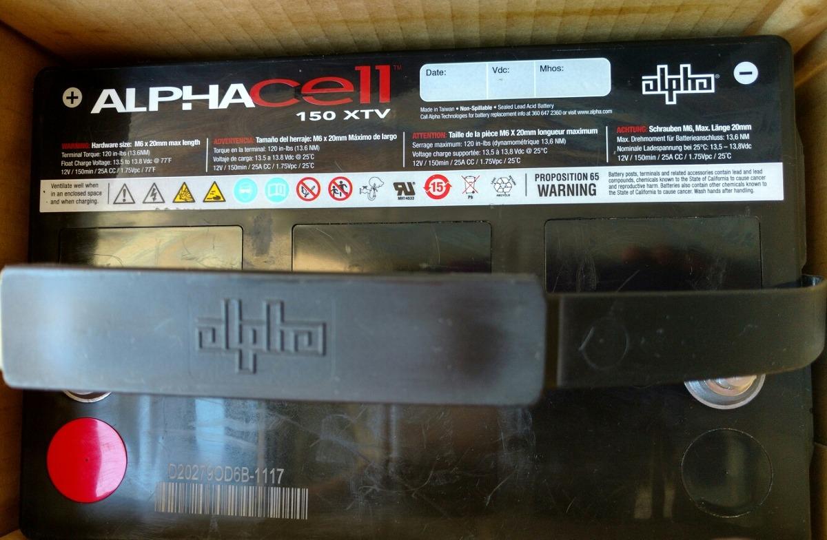 Batería Alphacell 150 Xtv 12 V 100 A