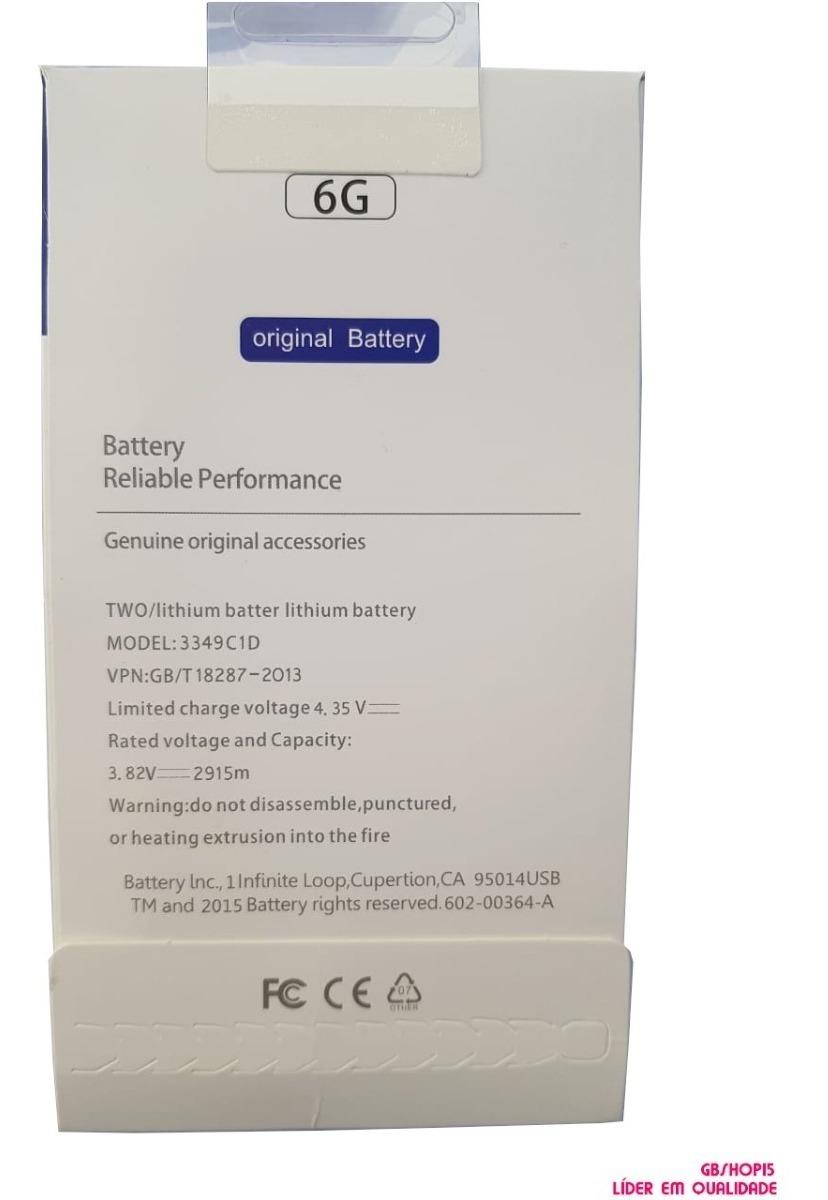 17ed0ab102f Bateria Apple iPhone 6 Original Envio Imediato - R$ 73,90 em Mercado ...