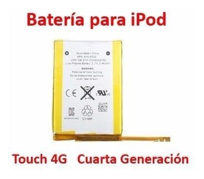 batería apple ipod touch 4g mp3 usb player original hd gb sd