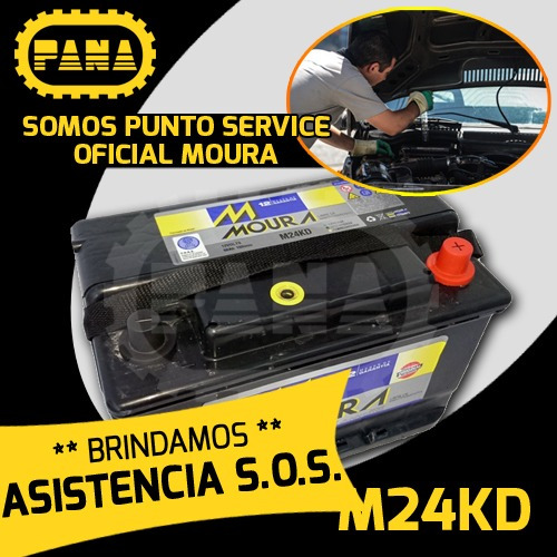 bateria auto moura mi24kd m24kd 12x75