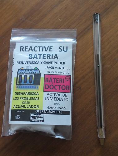 batería auto, reactiva, regenera, gana poder batería por $95