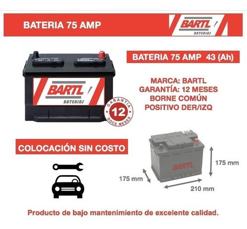 bateria bartl 75 amper garantía 12 meses