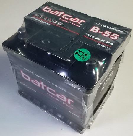 bateria batcar auto b-55 blindada peugeot 207 compac automatico
