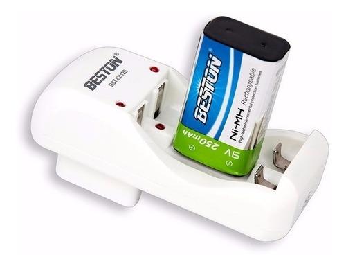 bateria beston 9v 250 mah recargable + cargador