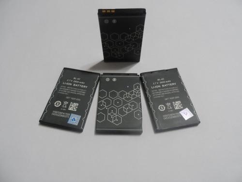 bateria bl-4c p/cel. nokia e p/ caixinhas de som (4 peças)