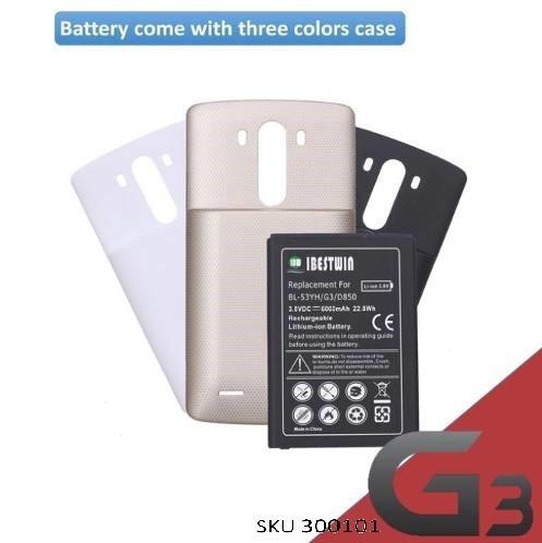 bateria bl-53yh lg g3 6000mah dura el doble + carcasa y envi