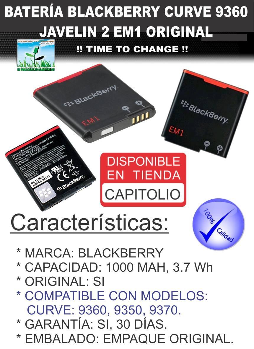 bateria blackberry curve 9360 9250 em1 original pila mdj. Cargando zoom.