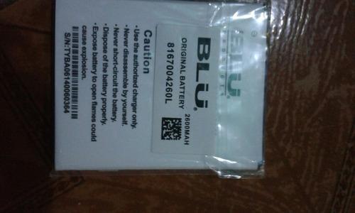 batería blu 8167004260l de 2600 mah nueva de paquete